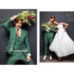 タキシード メンズスーツセット 3点セット 男性 フォーマル服 演奏会 司会 結婚式 グリーン  撮影用