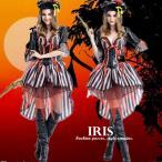ハロウィン 衣装 変装 海賊 女王 レディース コスプレ衣装 ワンピース ドレス ミディアム丈 仮装 女の子 パープル 舞台衣装 大人用 フリーサイズ