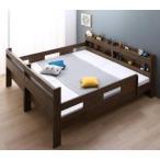 ずっと使える!2段ベッドにもなるワイドキングサイズベッド Whentoss ウェントス薄型軽量ボンネルコイルマットレス付きワイドK200 レギュラー丈
