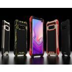 アウトドア ストラップホール付き GalaxyS10+ GalaxyS10 Plus ケース アルミ バンパー 耐衝撃 シリコン 頑丈 男性 人気 格好いい画像
