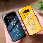 可愛い Galaxy S10 S9 S8 Plus S10+ S9+ S8+ Note9 Note8 ケース ガラス 笑顔 スマイル Nice ガラスケース カバー お洒落 女性 人気  にこちゃん画像