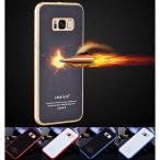 Galaxy S8/S8+ ガラスケース アルミバンパー Galaxy S8+Glass 強化ガラス カバー ギャラクシーs8アルミバンパーケース