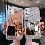 キラキラ iPhone11 Pro MAX ケース リング付き デコケース バンカーリング 鏡面 ミラー 女性 可愛い ソフト TPUケース カバー iPhone11プロ リングケース