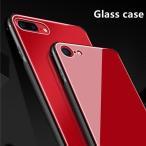 曲面ガラスフィルム付き iPhone8 Plus iphone7 plus ガラスケース TPU Glass 強化ガラス iPhone6/6s/6s Plus アイフォン8プラスカバー カラフル