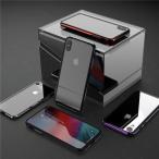 Yahoo!ベネックスストアiPhone XS Max iPhoneXR ガラスケース アルミ TPU バンパー クリア 透明ケース 背面強化ガラス アイフォンXS MAX マックス アイフォンXR カッコいい 男性