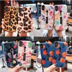 女性人気可愛い iPhoneXS MAX iPhoneXR iPhone X iPhone8 iPhone 7 6s Plus ケース カバー リング付き 豹柄 花柄 果物 スタンド付き アイフォン バンカーリング