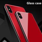 9H強化ガラスフィルム iPhone X ケース 真っ赤 ガラス Glass 極薄 軽い アイフォンX ケース カバー 赤