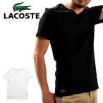 【メール便配送】LACOSTE ラコステ メンズ Vネック半袖スリムフィットTシャツ TH3374