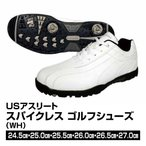 ゴルフシューズ メンズ USアスリート スパイクレス WH サイズ24.5〜27.0cm_4536214305779_91