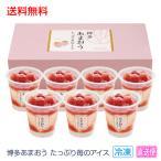 送料無料 お中元 ギフト アイスクリーム 博多あまおう たっぷり苺のアイス A-AT 123-69_4580434982029_69