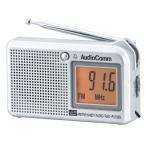 オーム電機 OHM AudioComm AM/FM 液晶表示ハンディラジオ ヨコ型 ワイドFM FM補完放送 RAD-P5130S-S
