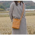 革ショルダーバッグ/ナチュラル ヌメ革/カバン鞄/ハンドメイド鞄/Beko