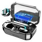ワイヤレスイヤホン bluetooth5.0 LEDディスプレイ 高音質 日本語案内 ノイズキャンセリング&AAC対応 マイク付き タッチ式 Siri対応 両耳 左右分離型 (G02)