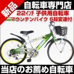 ショッピング自転車 子供自転車 22インチ シマノ6段変速 カゴ スタンド付 RAYSUS レイサス CTB-226 RY-226KD-H