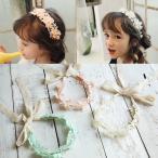 ヘアアクセサリー ヘアバンド 花 発表会 結婚式 子供ドレス ロングドレス キッズドレス ロイヤルブルー 女の子 フォーマル用 ジュニアドレス