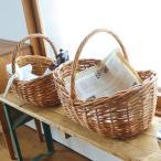 バスケット カゴ ラタン 編み込み ワンハンドル 大 41×30 ざっくり編み おしゃれ 収納 収納かご 玄関 キッチン リビング
