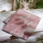 ベルメゾン 北欧調デザインの速乾ふんわりタオル ピンク・フラワー