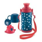 ジータ/GITA basic for school 通園・通学・子供用:直のみ、コップのみ 2WAY保冷水筒 チェック〜ボーダー