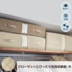 ベルメゾンデイズ 防ダニ・抗菌・防カビ機能が続くクローゼットぴったり布団収納袋 「アイボリー」