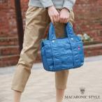 マカロニックスタイル コンパクトに収納できる袋付き☆ミディアムナイロントートバッグ