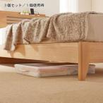 ショッピング小物 ベッド下薄型収納ケース3個セット