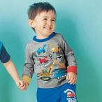ジータ/GITA basic for preschool 通園服・男の子 はたらくくるま長袖Tシャツ 80
