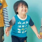 ジータ/GITA basic for preschool ベビー服・通園にピッタリはたらくくるま半袖Tシャツネット限定サイズあり 80〜130【ネット限定】
