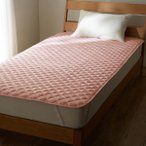 先染め 綿100% 敷きパッド シングル 約100×200