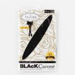 上品な輝きのシルバーラメのブラックタイツ ブラックキャロン ブラック・ガガ40デニールラメタイツ M―L