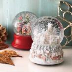 クリスマス スノードームオルゴール サンタ、ハウス