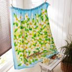 バスローブ バスドレス トロピカル柄のプールで使えるスナップ付巻きタオル(約100cm丈) カラー 「ブルーミングフラワー」