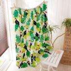 バスローブ バスドレス トロピカル柄のプールで使えるスナップ付巻きタオル(約100cm丈) カラー 「オオハシリバース」