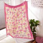 バスローブ バスドレス トロピカル柄のプールで使えるスナップ付巻きタオル(約100cm丈) カラー 「ピンクダンサー」