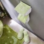 オーナメント刺繍のトイレットペーパーホルダーカバー・スリッパ(単品) グリーン トイレットペーパーホルダーカバー