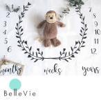 【出産祝い】月齢フォトシート 寝相アート 月齢 お祝い  1歳 誕生日  ベビーギフト フォトジェニック インスタ映え