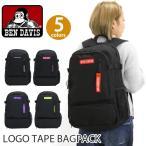 バックパック デイパック BEN DAVIS ベンデイビス リュックサック ロゴテープ リュック メンズ レディース ブランド LOGO TAPE BAGPACK レジャー フェス