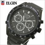 エルジン ELGIN  電波ソーラー 腕時計 メンズ クロノグラフ ブラックIP FK1361B-BP