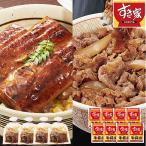 すき家 牛丼の具 国産うなぎ蒲焼 セット 8人前 食品 冷凍食品 おかず