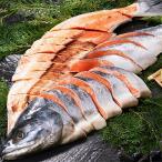 (送料無料)(お歳暮ギフト)宗谷・礼文島産 新巻鮭寒風仕上げ(姿切身) 1.9kg前後
