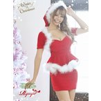 サンタ 衣装 コスプレ コスチューム パーティー Ryuyu サンタ クリスマス ぺプラム 袖あり レディース サンタクロース