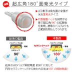 T10 LEDバルブ 3chip SMD ウェッジ球 ポジション球 ライセンスランプ セラミック製 両面発光 バルブ 6色 2個セット アクセサリー カー用品