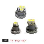 LED T3 T4.2 T4.7 メーター球 パネル球 2個セット 選べる3色