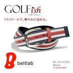 ベルト メンズ レディース ゴルフベルト/GOLFish ゴルフィッシュ/フレンチカラー ゴルフウェア (A)