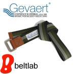 ベルト メンズ レディース 送料無料/GEVAERT ゲバルト/カジュアル ダブルリングベルト ボーダー