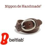 ベルト メンズ レディース 日本製 栃木レザー/Nippon de Handmade/円の型押し 丸いバックル カジュアル 牛革 本革ベルト