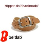 ベルト メンズ レディース 日本製 栃木レザー/Nippon de Handmade/お花の型押し カジュアル 牛革 本革ベルト