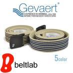 ベルト メンズ レディース 送料無料 ゴムベルト 日本製/ゲバルト GEVAERT/伸びる 動きやすい 軽い 金属アレルギー ボーダー