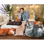 ぬいぐるみ 猫 ねこ とら リアル おしゃれ かわいい 抱き枕 昼寝枕 誕生日プレゼント 50cm