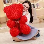 結婚式 ぬいぐるみ くま クマ バラの花びら熊 ウエディング 電報 記念日 結婚祝い バレンタインデー プレゼント 60cm