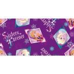ディズニー Disney アナと雪の女王 フローズン プリンセス 生地 布 手芸 フラフト 【フリース】 長さ91cm ボタン バッチ コレクター